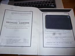 LDM3 Lettre De Mort  Georges Damiens Maroy Van Hooren Kaster 1895 1953 Ramegnies Chin - Avvisi Di Necrologio