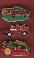 53206-lot De 3  Pin's-Automobile.Corvette.Mustang... - Ford