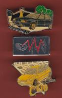 53210-lot De 3  Pin's-Automobile.Renault 21.Clio.. - Renault