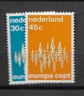 1972 MNH Netherlands, NVPH 1007-8 Postfris - 1949-1980 (Juliana)