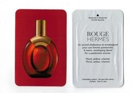 Cartes Parfumées Carte   ROUGE HERMES  De HERMES LIQUATOUCH - Modern (from 1961)