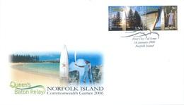 NORFOLK ISLAND - FDC - 16.1.2006 - QUEEN'S BATON RELAY COMMONWEALTH GAMES - Yv 879-880 - Lot 17552 - Ile Norfolk