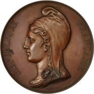 France, Médaille, Gouvernement Provisoire, 1848, Caqué, SUP+, Cuivre - France