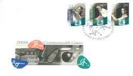 NORFOLK ISLAND - FDC - 14.3.2006 - COMMONWEALTH GAMES - Yv 881-883 - Lot 17553 - Ile Norfolk