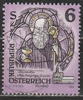 Austria 1993 St. Benedict Of Nursia, (stained-glass) - Arte | Monasteri | Religione | Santi | Vetrate - 1945-.... 2a Repubblica