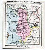 SB01321 Berliner Morgenpost - Europa-Karten - 31 : Albanien - Chromo