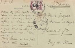 POSTCARD INDOCHINA. TCHONG-K'ING. 7 9 1927. GARDE CIVILE INDIGENE / 3 - China (1894-1922)