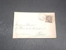 LEVANT - Enveloppe De Constantinople Pour Paris En 1893 , Affranchissement Sage Surchargé - L 20097 - Levant (1885-1946)