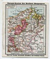 SB01336 Berliner Morgenpost - Europa-Karten - 46 : Provinz Grenzmark (Preußen) Und Freistaat Danzig - Chromos