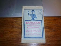 BC5-2-0  Pochette Photo Kodaks Braine Le Comte Gaston Leroy - Ohne Zuordnung