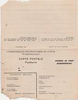 """Carte Postale  + Carte Réponse / Correspondance Des Prisonniers De Guerre / """"Franco De Port"""" - 1914-18"""