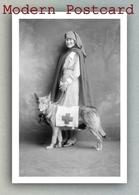 Red Cross Nurse And A Dog, Croix Rouge Infirmière Chien, Rotes Kreuz Krankenschwester Hund - Red Cross