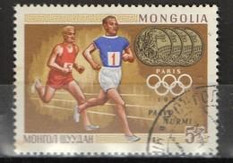 PIA - MONGOLIA  - 1969 : Vincitori Di Medaglie D'oro Alle Olimpiadi : Pavlo Nurmi - Parigi 1924.  - (Yv 469) - Summer 1924: Paris