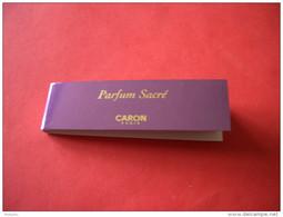 Carte Caron Parfum Sacré éventail - Modern (from 1961)