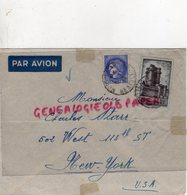 AMERIQUE- ENVELOPPE AVION  CHARLES STARR 502 WEST 113 TH STREET- NEW YORK- USA 1939- L. BOUSQUET MONTPELLIER - Marcophilie (Lettres)