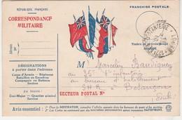 Carte Postale Franchise / Correspondance Militaire / 6 Drapeaux Alliés - 1914-18