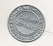 Timbre Monnaie. Crédit Lyonnais. Emprunt National 6% 1920 - Monetary / Of Necessity
