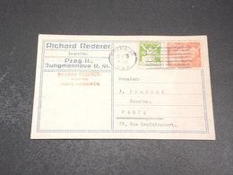 TCHÉCOSLOVAQUE - Carte Commerciale De Prague Pour Paris En 1923 - L 20136 - Briefe U. Dokumente