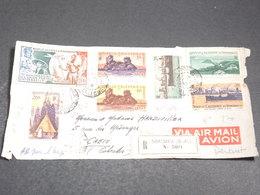 NOUVELLE CALÉDONIE - Enveloppe ( Devant ) En Recommandé De Nouméa Pour Caen En 1949 - L 20137 - Cartas
