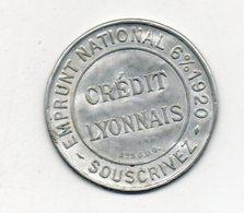 Timbre Monnaie. Crédit Lyonnais. Emprunt National 6% 1920. - Monetary / Of Necessity