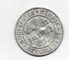 Timbre Monnaie. Nouvelles Galeries. 10c Rouge Sur Fond Bleu - Monetary / Of Necessity