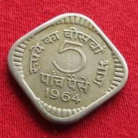 India 5 Paise 1964 C KM# 17  Inde - India