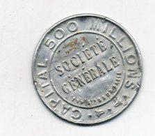 Timbre Monnaie. Société Générale. 10c Rouge Sur Fond Bleu - Monetary / Of Necessity