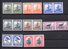 1942    Congo Belge, Palmiers, Indigènes Soldats, Animaux, 228 / 246** (en Paire), Cote 110 €, - Belgisch-Kongo