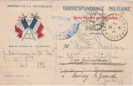 Carte Postale Correespondance Militaire 1916 / RF Vive La France / 2 Drapeaux Tricolores - 1914-18