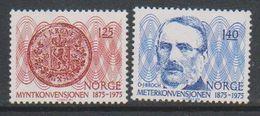 Norway 1975 Meterkonvention 2v ** Mnh (39622B) - Norvège