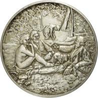 France, Médaille, Le Déjeuner Sur L'Herbe, Edouard Manet, SUP+, Argent - France