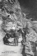 LEUKERBAD → Montée Du Col De La Gemmi, Touristen Mit Maultier Anno 1910 - VS Valais