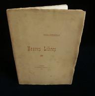 ( Poésie Bretagne Ancenis ) HEURES LIBRES  Par Paul FORGEOUX 1913 ENVOI - Poetry