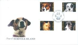 NORFOLK ISLAND - FDC - 12.9.2006 - DOGS - Yv 905-908 - Lot 17558 - Norfolk Eiland
