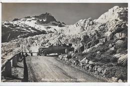 FURKASTRASSE BEIM RHONEGLETSCHER  → Offenes Altes Saurer Postauto Anno 1928 - VS Wallis