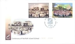 NORFOLK ISLAND - FDC - 3.10.2006 - CENTENARY OF ISLAND SCHOOL - Yv 909-910 - Lot 17559 - Ile Norfolk