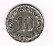 -&   DEUTSCHES REICH  10 PFENNIG 1910 A - [ 2] 1871-1918 : Empire Allemand