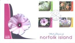 NORFOLK ISLAND - FDC - 2007 - FLOWERS  - Yv 915-918 - Lot 17561 - Ile Norfolk