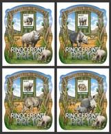 Mozambico 2015, Animals, Black Rhino, 4BF - Rhinozerosse