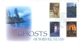 NORFOLK ISLAND - FDC - 2007 - GHOSTS  - Yv 923-926 - Lot 17563 - Ile Norfolk