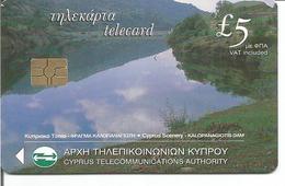 Télécarte De CHYPRE - PAYSAGES Kalopanagiotis Dam Et Troodos - ( 01/01 200 000 Ex.) - Chypre