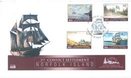 NORFOLK ISLAND - FDC - 13.11.2007 - 1st CONVICT SETTLEMENT VESSEL  - Yv 933-936 - Lot 17565 - Ile Norfolk