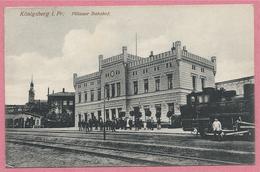 Russia - Russie - Russland - KÖNIGSBERG - KALININGRAD - Pillauer Bahnhof - Loco - Gare - Feldpost - Ostpreussen