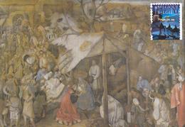 Carte-Maximum BELGIQUE N° Yvert 4353 (ROIS MAGES) Obl Sp Ill 1er Jour (Pieter BRUEGEL) - Maximum Cards