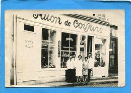 SAULIEU Ou  Environs-carte Photo  -salon De Coiffure Le Personnel Devant -années 50 - Saulieu