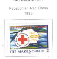 Macedonia PO 1995 Croce Rossa  Scott.45 See Scan On Scott.Page - Macedonia