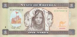 ERITREA 1 NAKFA 2015 P-13 UNC */* - Erythrée