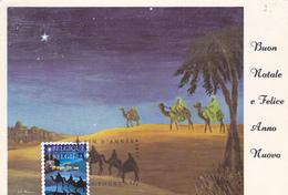 Carte-Maximum BELGIQUE N° Yvert 4353 (ROIS MAGES) Obl Sp Ill 1er Jour - Maximum Cards