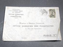 MAROC - Enveloppe Commerciale Pour Paris - L 20197 - Morocco (1891-1956)