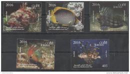 JORDAN,2016, MNH, FISH , FISH OF MEDITERRANEAN, LIONFISH, SCORPION FISH,5v - Fishes